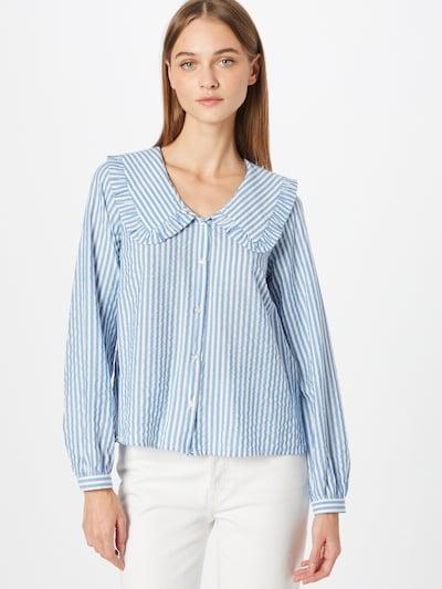 NAF NAF Bluse 'CAMILLE' in blau / weiß, Modelansicht