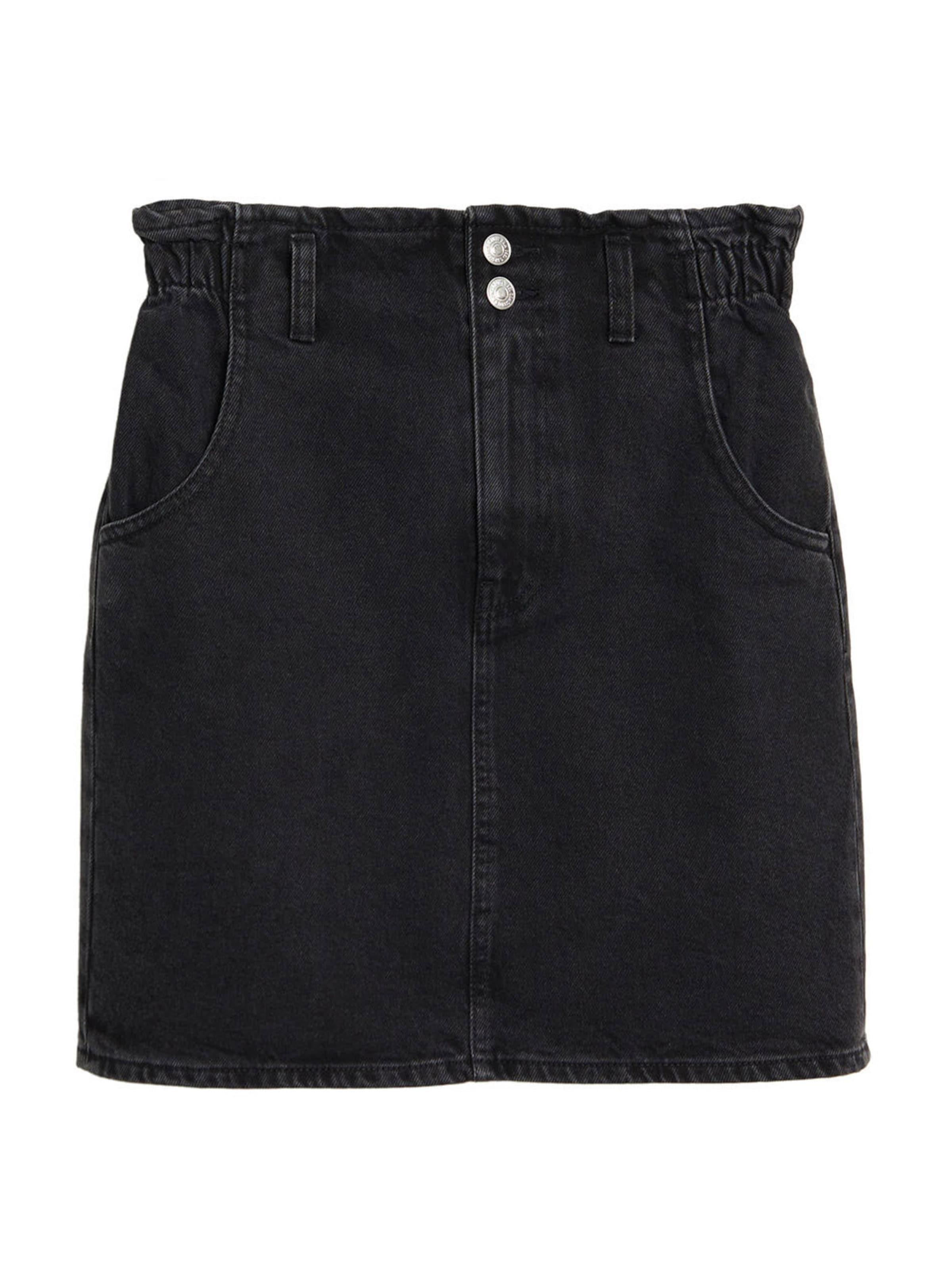 MANGO Rock 'Paperbag' in schwarz