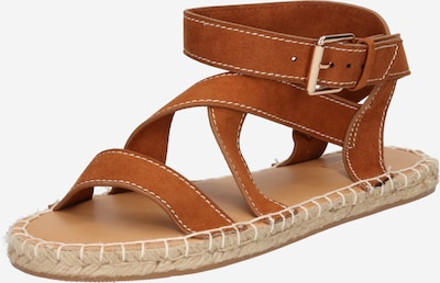 Sandale cu baretă ONLY pe maro, Vizualizare produs