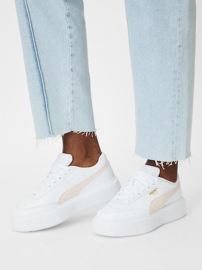 Sneaker low 'Oslo Maja' PUMA pe roz / alb: Privire frontală