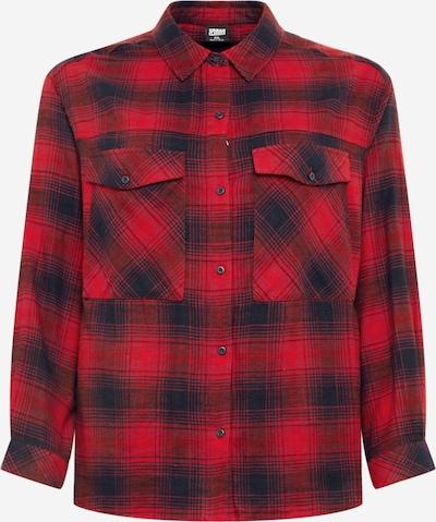Urban Classics Curvy Hemd in dunkelblau / rot, Produktansicht