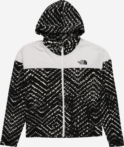 THE NORTH FACE Sports sweat jacket 'GLACIER' in black / white, Item view