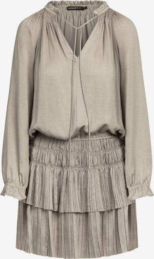 APART Kleid aus seidigem Material in kurzem Schnitt in silbergrau, Produktansicht