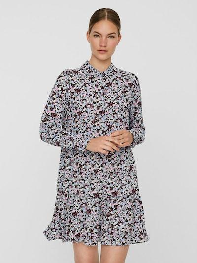 VERO MODA Kleid in hellblau / grün / lila / schwarz / weiß, Modelansicht