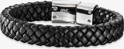 SAVE BRAVE Armband 'Harry ' in schwarz / silber, Produktansicht