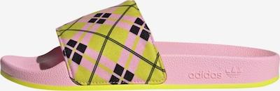 ADIDAS ORIGINALS Muiltjes 'Adilette' in de kleur Geel / Pastelroze / Zwart, Productweergave