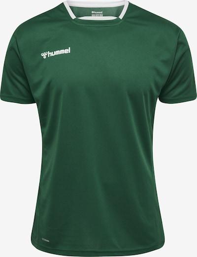 Hummel Trainingsshirt in grau / grün / schwarz / weiß, Produktansicht