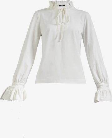 Gessica Langarmbluse Milano white in Weiß