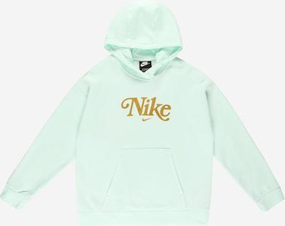 Nike Sportswear Sweatshirt 'Club' in de kleur Goud / Mintgroen, Productweergave