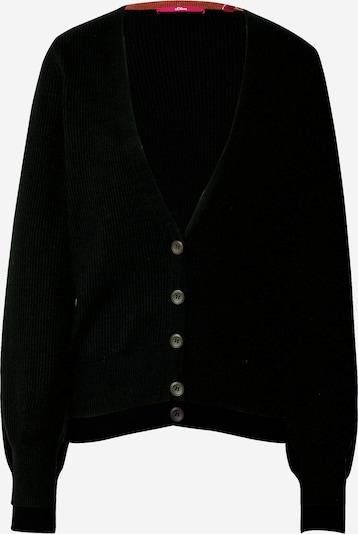 s.Oliver Strickjacke in schwarz, Produktansicht