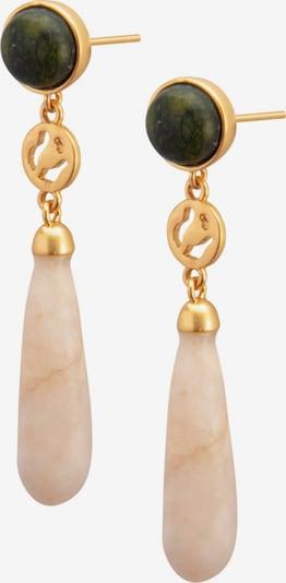 Sence Copenhagen Earrings in Beige / Gold / Dark green, Item view