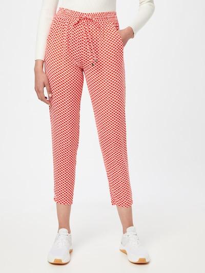Pantaloni Sublevel pe roșu orange / alb, Vizualizare model