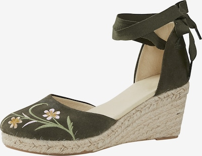 heine Sandale in gelb / khaki / hellgrün / weiß, Produktansicht