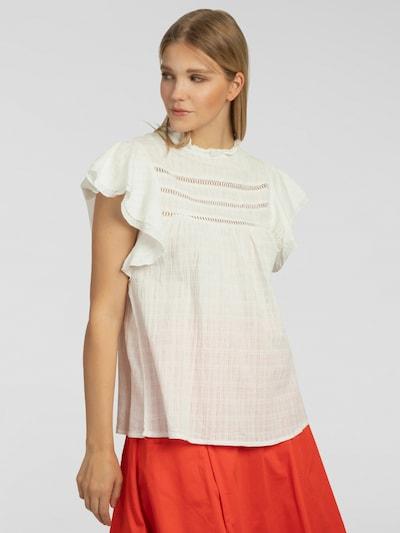 APART Bluse mit kurzen Volants-Ärmeln in creme, Modelansicht