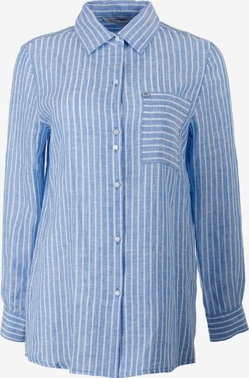 HELMIDGE Langhemdbluse in hellblau / weiß, Produktansicht