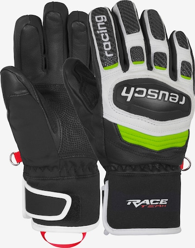 REUSCH Fingerhandschuhe 'GS Junior' in neongrün / schwarz / weiß, Produktansicht