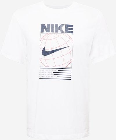 NIKE Sport-Shirt in dunkelblau / rot / weiß, Produktansicht