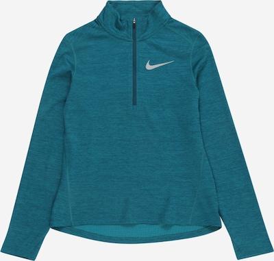 NIKE Sportska sweater majica u petrol / srebro, Pregled proizvoda