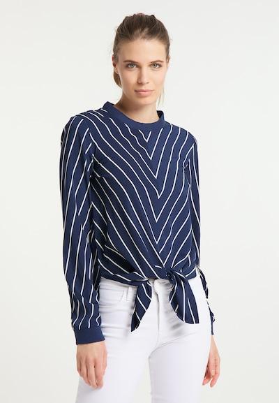 DreiMaster Maritim Bluse in navy / weiß, Modelansicht