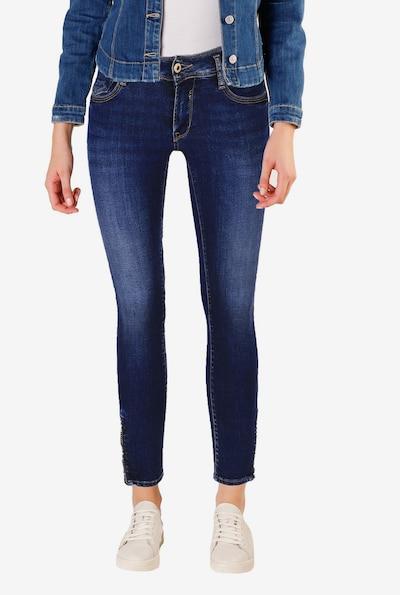 Le Temps Des Cerises Jeanshose 'PULPC' in blau, Modelansicht