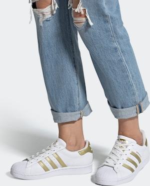 ADIDAS ORIGINALS Sneaker 'Superstar' in gold / weiß
