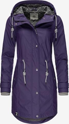 Peak Time Between-Seasons Coat 'L60042' in Purple