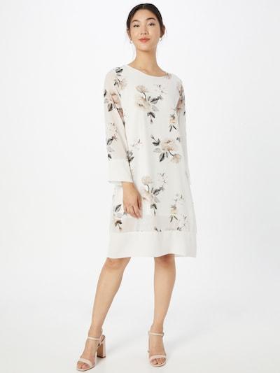 ZABAIONE Kleid 'Amelia' in graphit / puder / offwhite, Modelansicht