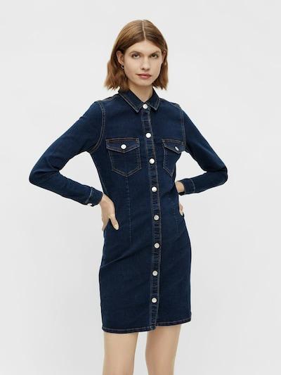 PIECES Kleid in dunkelblau, Modelansicht