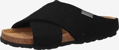 SHEPHERD OF SWEDEN Pantoufle en noir, Vue avec produit