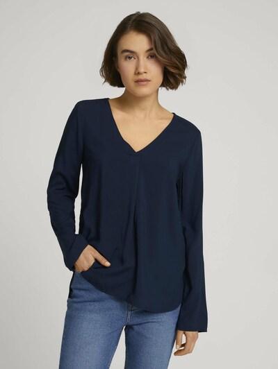 Bluză TOM TAILOR DENIM pe albastru închis, Vizualizare model