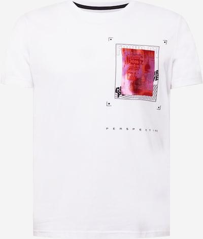 Tricou Q/S by s.Oliver pe corai / roz / roz eozină / alb, Vizualizare produs