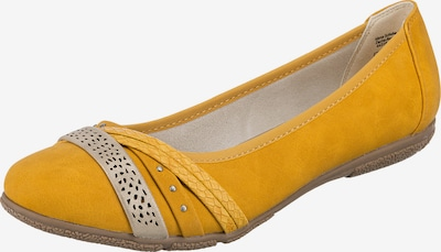 JANE KLAIN Ballerina in gelb / silber, Produktansicht