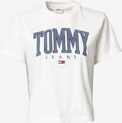 Tricou Tommy Jeans pe albastru porumbel / alb, Vizualizare produs