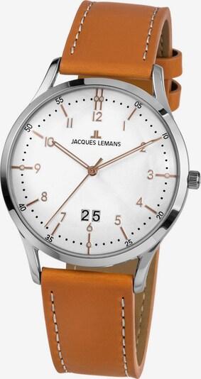 Jacques Lemans Uhr 'Retro Classic' in braun / silber / weiß, Produktansicht