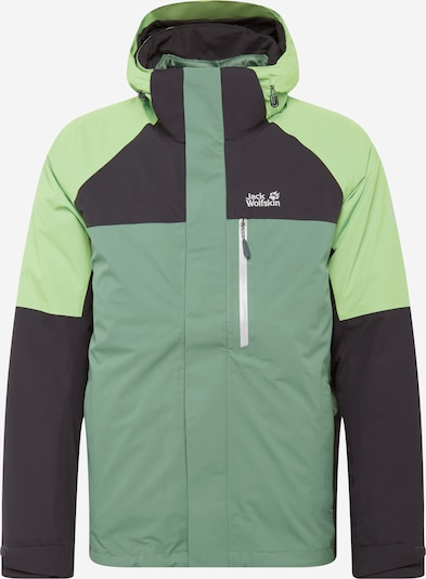 JACK WOLFSKIN Outdoorová bunda - sivá / zelená / mätová, Produkt