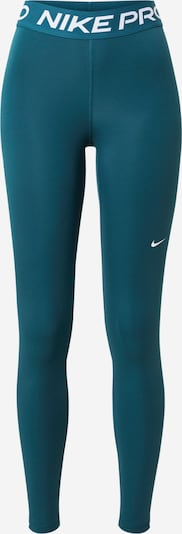 NIKE Sports trousers in Petrol / White, Item view