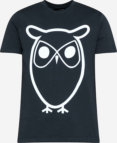 KnowledgeCotton Apparel T-Shirt 'ALDER' in dunkelblau / weiß, Produktansicht