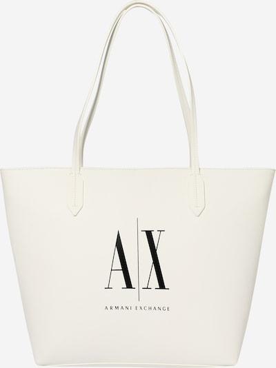 ARMANI EXCHANGE Nakupovalna torba | črna / bela barva, Prikaz izdelka