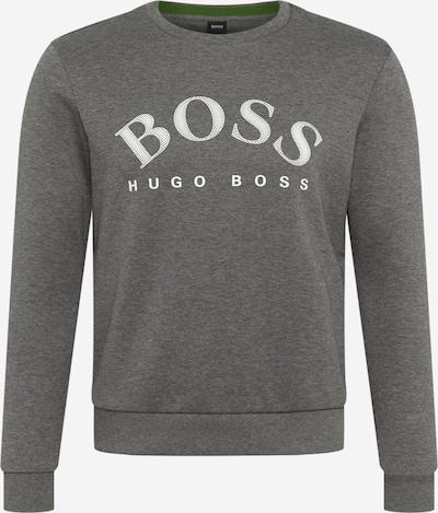 BOSS ATHLEISURE Sweatshirt 'Salbo' in graumeliert / weiß, Produktansicht