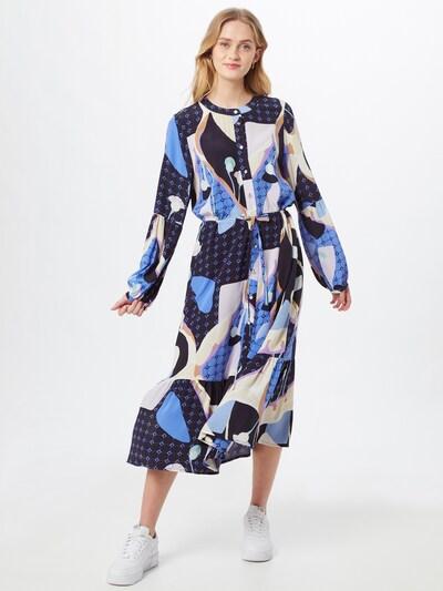 NÜMPH Košulja haljina 'Nucasey' u plava / noćno plava / svijetloljubičasta / bijela, Prikaz modela