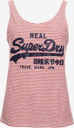 Superdry Klassiches Vintage Top in rot / weiß, Produktansicht