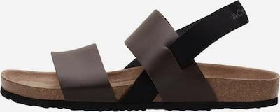 JACK & JONES Sandales en brun foncé / gris, Vue avec produit