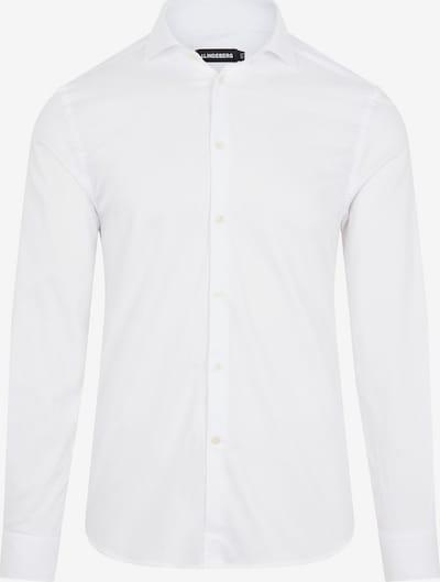 J.Lindeberg Overhemd in de kleur Wit: Vooraanzicht