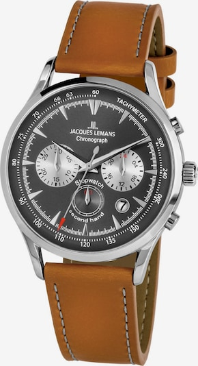 Jacques Lemans Uhr in braun / silber, Produktansicht