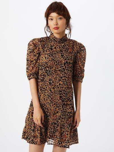 OBJECT Kleid 'Eliza' in orange / schwarz, Modelansicht