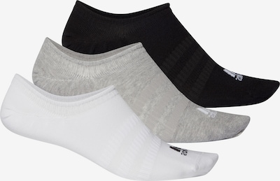 ADIDAS PERFORMANCE Füßlinge in grau / schwarz / weiß, Produktansicht