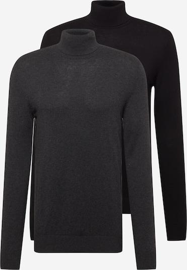 Pullover 'Emil' JACK & JONES di colore antracite / nero, Visualizzazione prodotti