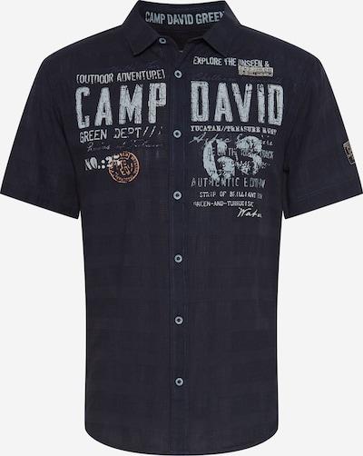 CAMP DAVID Koszula w kolorze niebieska noc / jasnoszary / pomarańczowym, Podgląd produktu