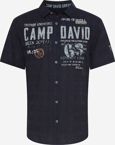 CAMP DAVID Skjorta i nattblå / ljusgrå / orange, Produktvy