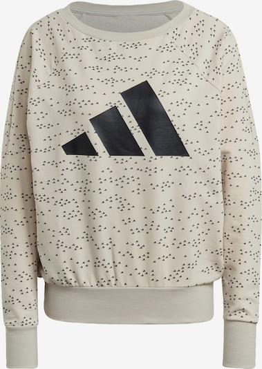 ADIDAS PERFORMANCE Sportsweatshirt in beige / schwarz, Produktansicht